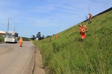 DNIT/SC concentra roçadas entre Sangão e Içara nesta semana