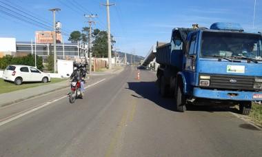 DNIT/SC realiza trabalhos de conservação na travessia urbana da BR-101