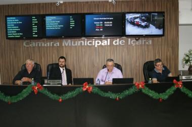 Vereadores realizaram última sessão ordinária de 2017