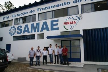 Vereadores de Içara conhecem os trabalhos do Samae de Orleans