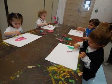 Inspirada na natureza, turma do Infantil da Satc esbanja criatividade