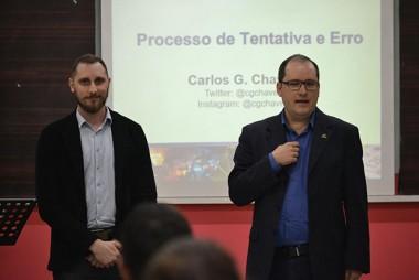 Curso de Ciências Econômicas da Unesc recebe palestra de Carlos Groehs Chaves