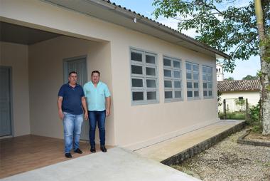 Secretaria de Saúde de Jacinto Machado transforma escola em posto de saúde no Pinheirinho de Baixo