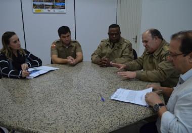 ADR recebe projeto para instalação de um Colégio Policial Militar