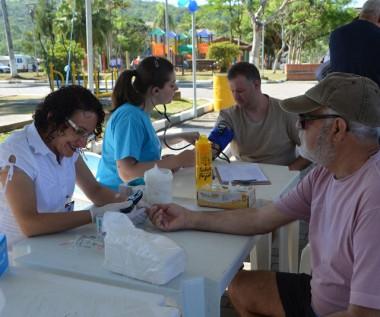 Prevenção ao Diabetes é levada à praça central de Siderópolis
