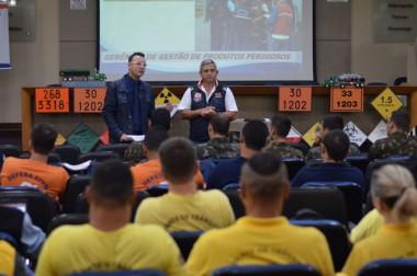 Defesa Civil passa por treinamento de transporte de cargas perigosas
