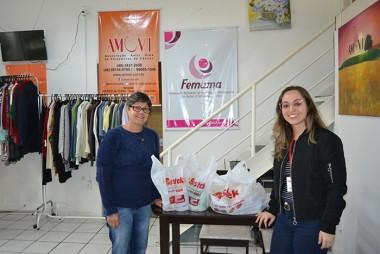 Bistek entrega donativos a duas instituições de Criciúma