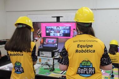 Equipe de robótica da Escola S participa de torneio estadual online