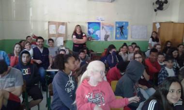 Escola de Tubarão recebe oficina de Educação Ambiental do DNIT