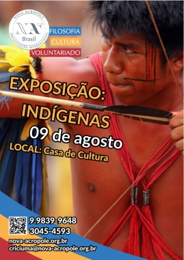 Exposição Indígenas na Casa de Cultura de Criciúma