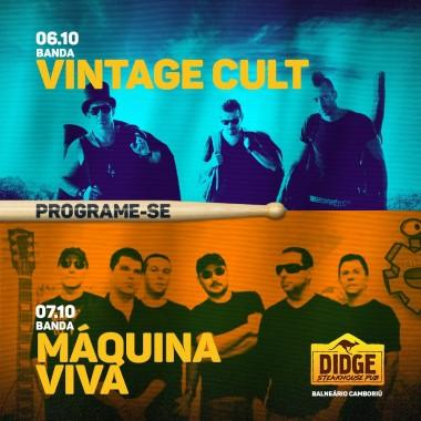 Vintage Cult e Máquina Viva comandam palco do Didge BC