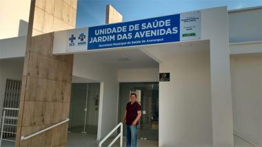 Vereador Jair Anastácio visita Unidades de Saúde em construção