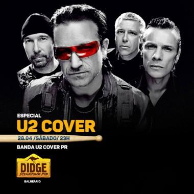 U2 Cover PR aterrissa no palco do Didge BC neste sábado