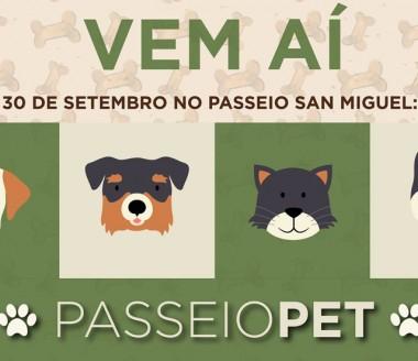 Evento pet reúne a bicharada dia 30 no Passeio San Miguel