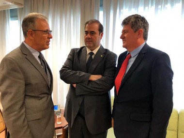 Deputado Chiodini e presidente da Apesc se reúnem com ministro de Minas e Energia