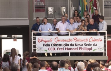 Governador Raimundo Colombo inaugura a Escola