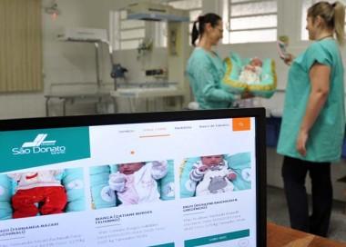 Bebês ganham espaço de boas-vindas no site do HSD