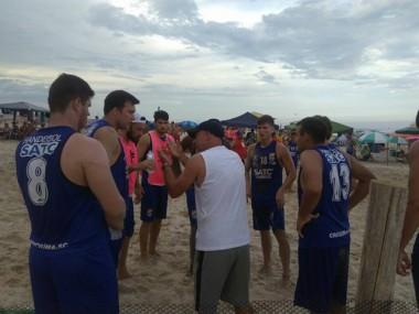 Satc disputa final do I Open Garopaba de Handebol Beach
