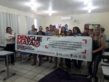Secretaria de Saúde de Jacinto Machado mobiliza alunos