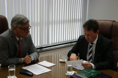 TRE-SC realiza visita institucional ao Tribunal de Justiça