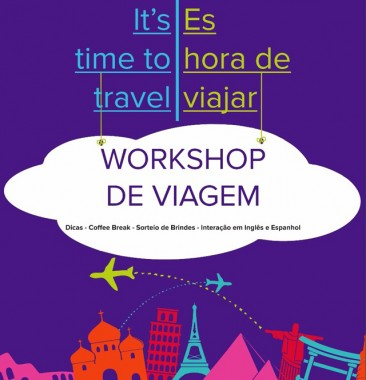Escola de idiomas promove workshop de viagem gratuito