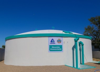 Reservatório de água será entregue a população do Bairro Aurora