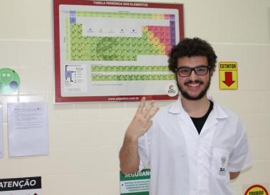 Aluno Satc se classifica para Olimpíada Nacional de Química
