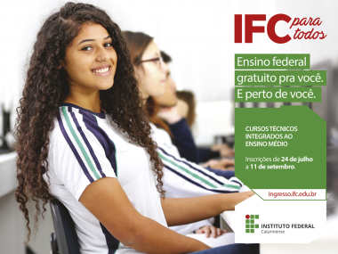IFC oferta 2.075 vagas gratuitas em cursos técnicos integrados