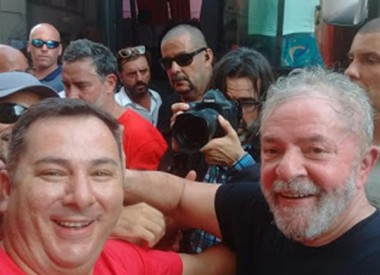 Vereador Jair Anastácio encontra ex-presidente Lula