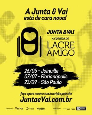 Segunda edição da Junta & Vai - Corrida do Lacre Amigo já tem data em Joinville