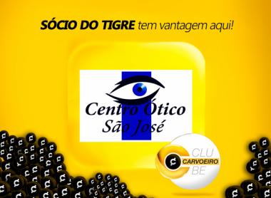 Centro Ótico São José forma parceria com Clube Carvoeiro