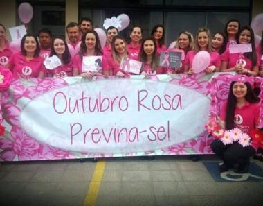 Caminhada da prevenção no Outubro Rosa