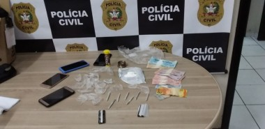 Ponto de venda de cocaína é desarticulada pela Polícia Civil em Criciúma