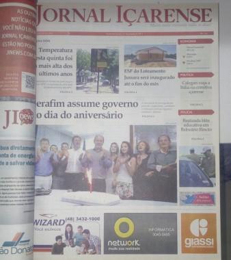 Jornal Içarense registra seus 24 anos de história em Içara