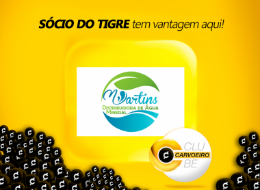 Martins Distribuidora de Água entra no Clube Carvoeiro
