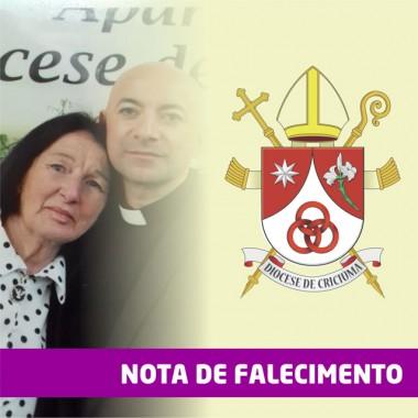 Nota de Falecimento da mãe do padre Richardson de Souza