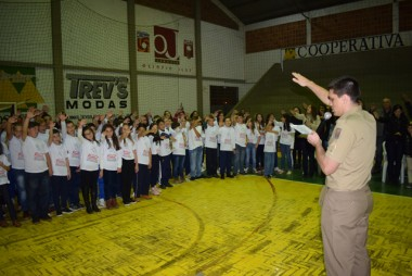 Proerd forma mais de 130 crianças em Jacinto Machado