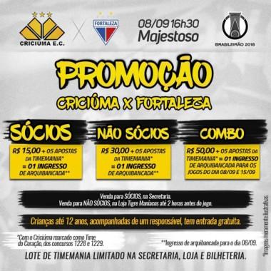 é anunciada a promoção para a disputa entre o Tigre e Fortaleza