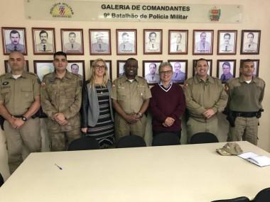 Reunião no 9º Batalhão da Polícia Militar