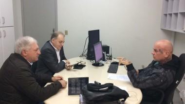 Presidente conversa com delegado sobre arrombamentos em gabinetes