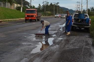 ADR Criciúma inicia operação tapa buracos