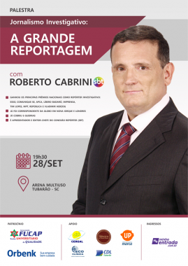 Roberto Cabrini  fala sobre Jornalismo Investigativo