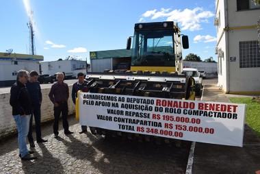 Prefeitura de Jacinto Machado adquire um rolo compactador