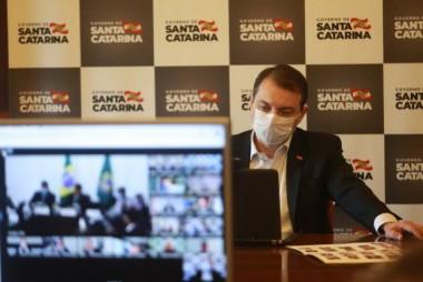 Governador participa de reunião com o presidente Jair Bolsonaro sobre auxílio