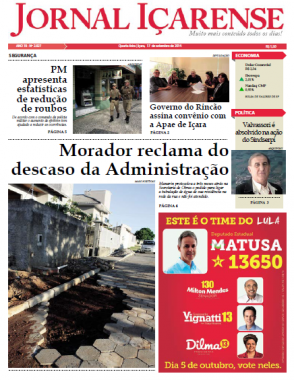 Jornal Içarense registra os 25 anos de história em Içara