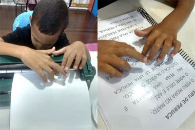 Rede Municipal de Ensino disponibiliza atendimento em Braille