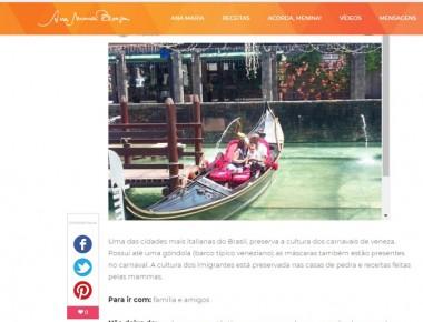 Nova Veneza é indicada com um dos destinos nacionais