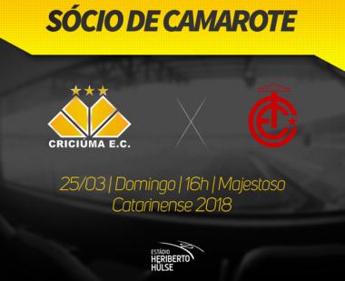 Sócio de camarote no duelo entre Criciúma e Inter de Lages