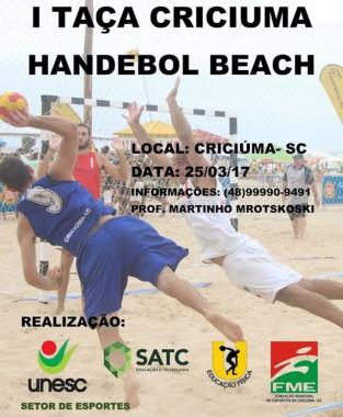 Primeira edição da Taça Criciúma de Handebol Beach