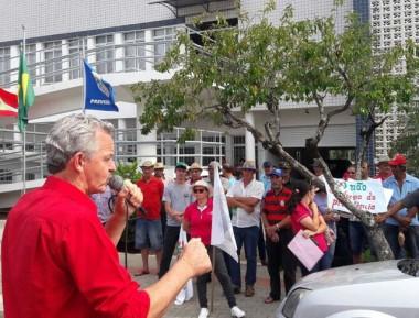 Dirceu Dresch participa de atos contra medidas do governo Temer